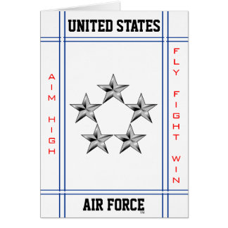 General of the Air Force O-10 Greeting Card