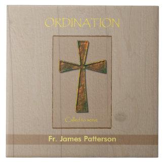 General Ordination Congratulations, Metal Design C Large Square Tile
