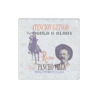 General Pancho Villa Stone Magnet