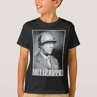 General Patton says Shut Up Hippie! Tee Shirt