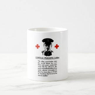 General Pershing Cables -- Red Cross Mug