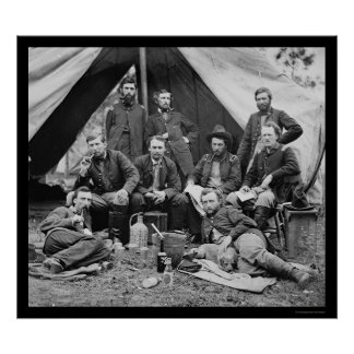 General Porter's Staff with George Custer 1862 Poster
