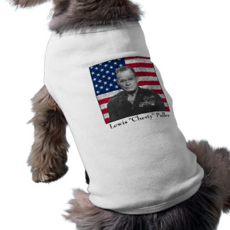 General Puller and The American Flag Sleeveless Dog Shirt