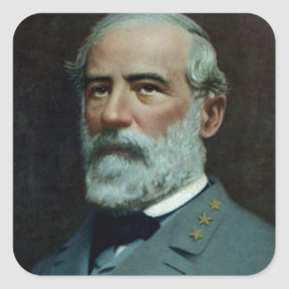 General Robert E. Lee Square Sticker