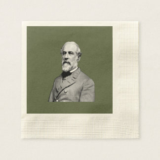 General Robert E. Lee USA Army Green Paper Napkin