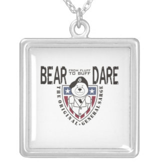 General Sarge Bear Dare Dog Tag Custom Jewelry