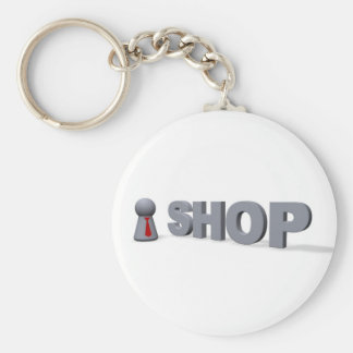 General Selection Basic Round Button Key Ring