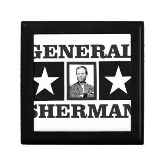 general Sherman art Small Square Gift Box