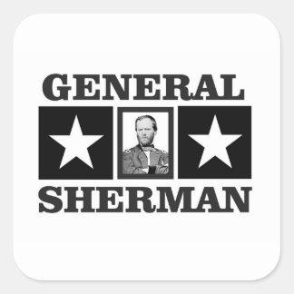 general Sherman art Square Sticker