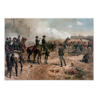 General Sherman Observing The Siege of Atlanta Poster