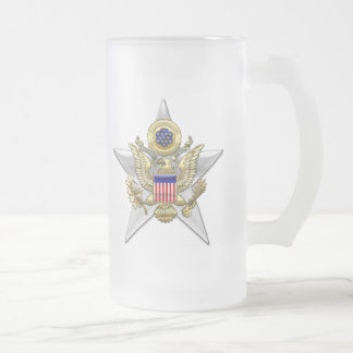 General Staff Branch Insignia Frosted Glass Beer Mug