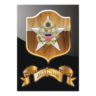 General Staff Branch Insignia Personalized Announcements
