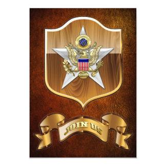 "General Staff Branch Insignia 5"" X 7"" Invitation Card"