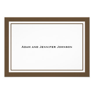 General Thank You Note Cards (Brown / White) Custom Invites