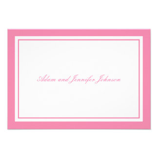 General Thank You Note Cards (Pink / White) Personalized Announcement