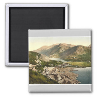 General view, Llanberis, Wales rare Photochrom Square Magnet