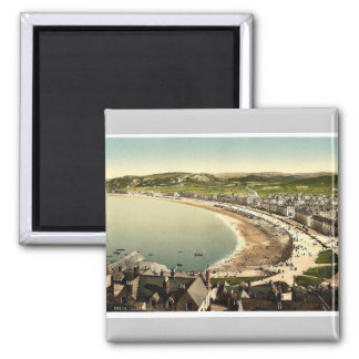 General view, Llandudno, Wales rare Photochrom Square Magnet