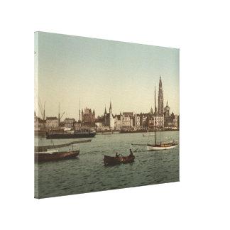 General View of Antwerp II, Belgium Canvas Print