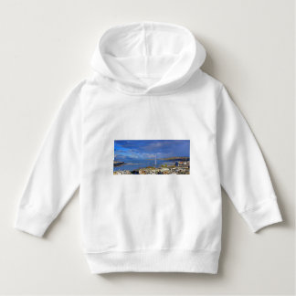 general view of geneva the city and sky blue hoodie
