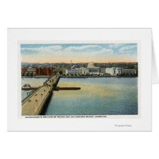 General View of MIT and Harvard Bridge, Card