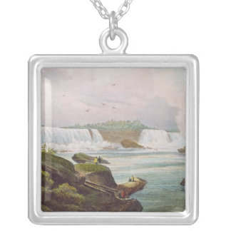 General View of Niagara Falls from Canadian Side Silver Plated Necklace
