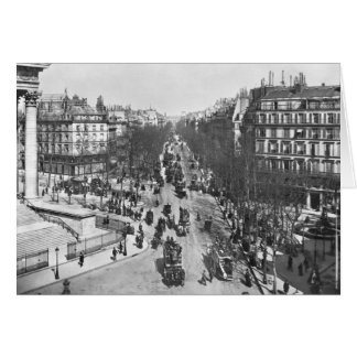 General view of the Place de la Madeleine Greeting Card