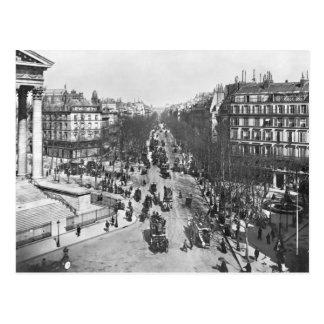 General view of the Place de la Madeleine Postcard