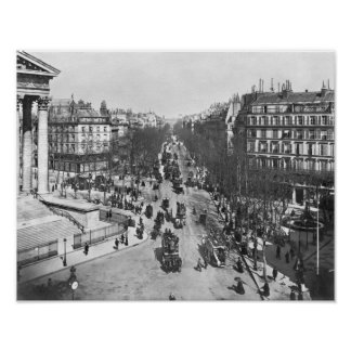 General view of the Place de la Madeleine Poster