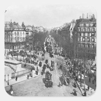 General view of the Place de la Madeleine Square Sticker