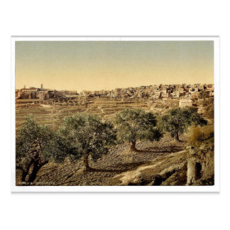 General view of the well of David, Bethlehem, Holy Postcard