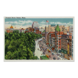 General View of Tremont Street Poster
