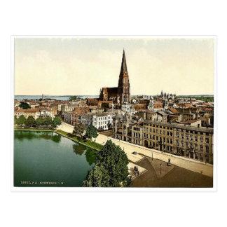 General view, Schwerin, Mecklenburg-Schwerin, Germ Postcard