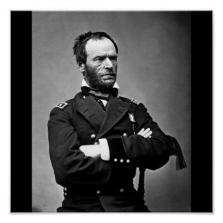 General William Tecumseh Sherman, 1865. Poster