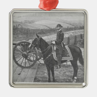 General William Tecumseh Sherman at Atlanta Metal Ornament