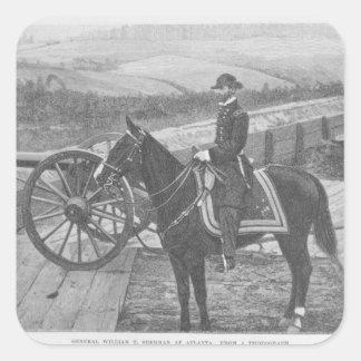 General William Tecumseh Sherman at Atlanta Square Sticker