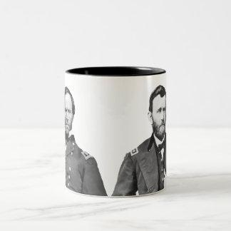 Generals Sherman and Grant Two-Tone Mug