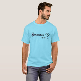 Generation Y blue T-shirt