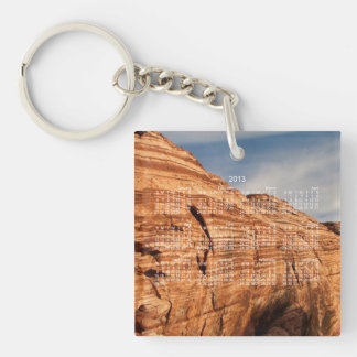 Generations in Red Rock; 2013 Calendar Single-Sided Square Acrylic Key Ring