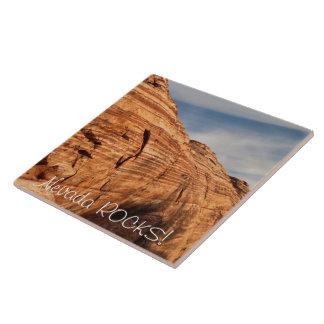 Generations in Red Rock; Nevada Souvenir Ceramic Tile