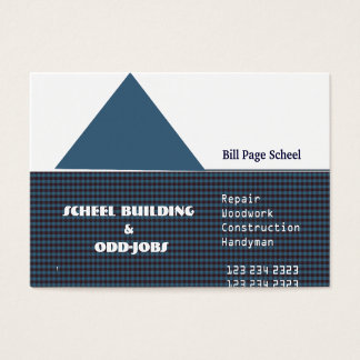 Generic Affordable Easy Custom Home Odd Jobs Business Card
