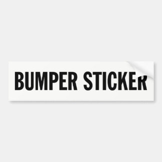 Generic Bumper Sticker
