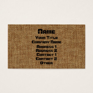 Generic Burlap Business Business Card