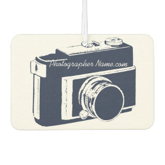 Generic Dark Blue SLR Photography Camera Graphic Car Air Freshener
