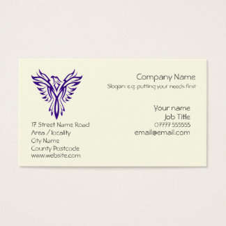 Generic Phoenix Rising from Ashes - Purple Business Card