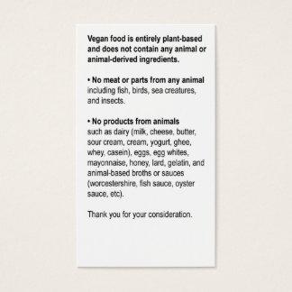 Generic Restaurant Card