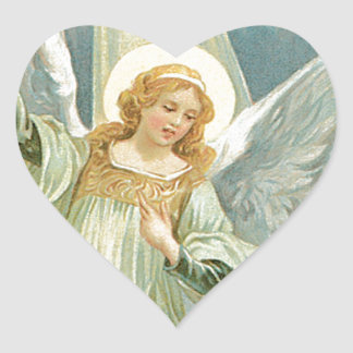 Generous -  Guardian Angel of Generosity Heart Sticker
