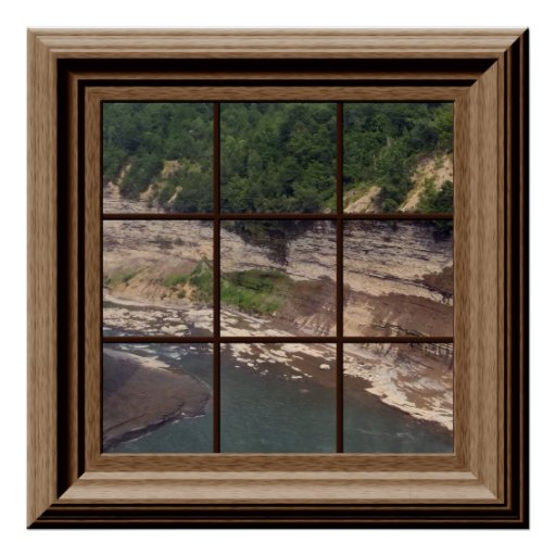 Genesee River Gorge Faux Window Poster