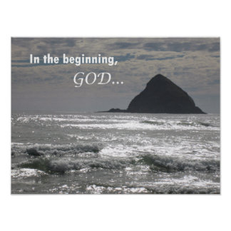 Genesis 1:1  In the beginning, God Poster