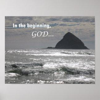 Genesis 1:1  In the beginning, God Poster
