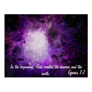 Genesis 1:1 postcard